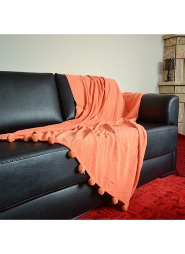 Giz Home Carmel Koltuk Örtüsü 130X170 Turuncu Renkli